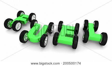 Fuel Automobile Car Vehicle Power Energy Transportation 3d Illustration