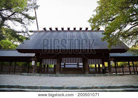 NAGOYA JAPAN - April 16, 2016: Atsuta-jingu (Atsuta Shrine) in Nagoya Japan