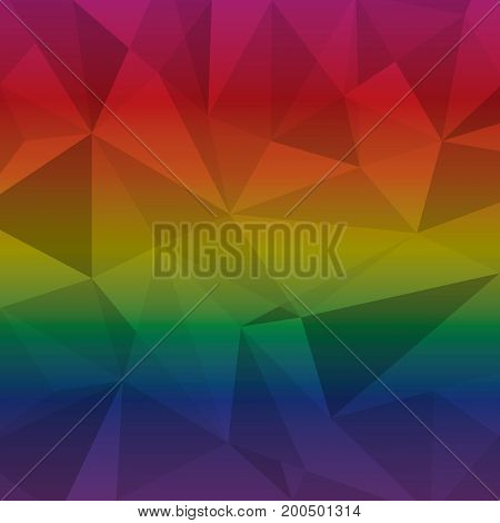 Created multi color triangle abstract background stock vectir