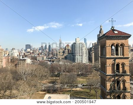Aerial View Of Greenwich Village