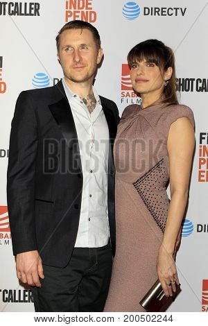 LOS ANGELES - AUG 15:  Scott Campbell, Lake Bell at the