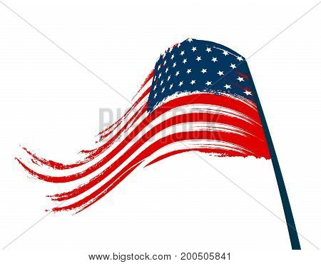 Stylized national flag on white background. Vector illustration