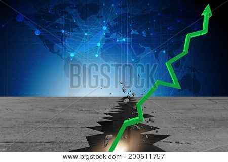 Economic recovery business concept - 3d rendering