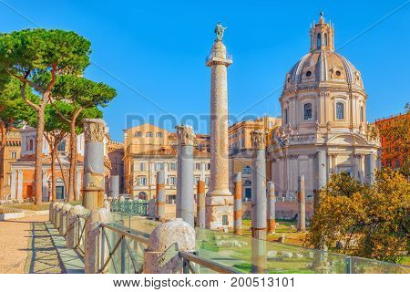 Beautiful Landscape Of The Rome- One Of The Oldest And Most Beautiful Cities In The World. View On T