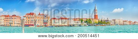 Views Of The Most Beautiful Canal Of Venice - Grand Canal, And Campanile Of St. Mark's Cathedral(cam