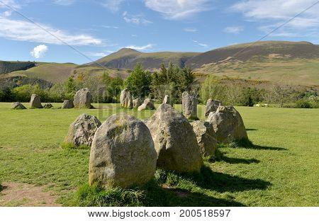Castlerigg Stone Circle and Skiddaw, English Lake District