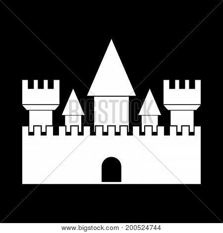 Castle White Color Icon .