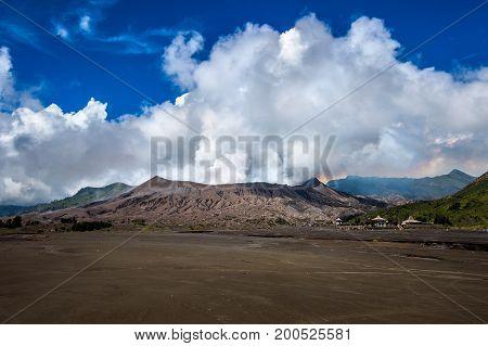 Bromo volcano (Gunung Bromo)in Bromo Tengger Semeru National Park East Java Indonesia.
