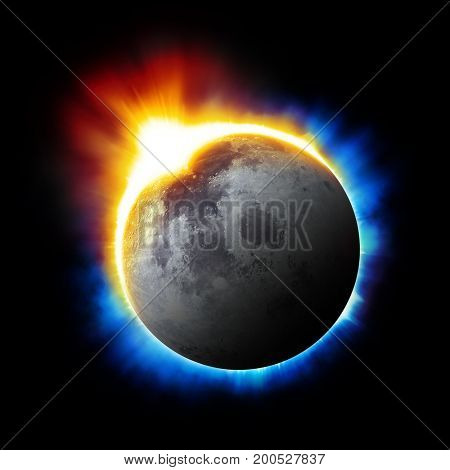 Solar eclipse background - Elements of this image furnished by NASA