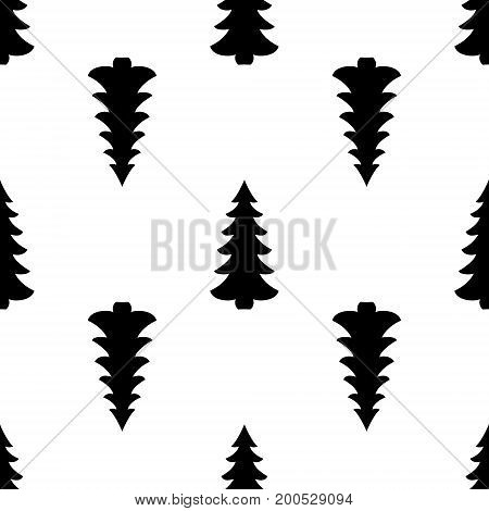Seamless. Spruce. Abstract geometric seamless repeat pattern in black. Modern and stylish abstract design, cover, card design, wallpaper.