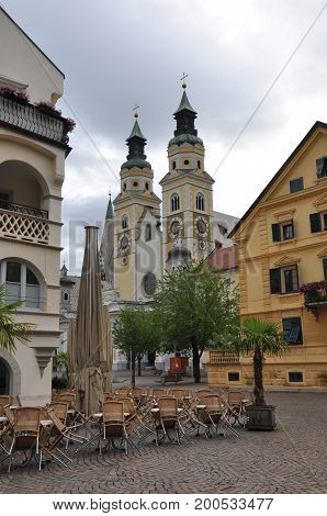Brixen city in the north of Italy