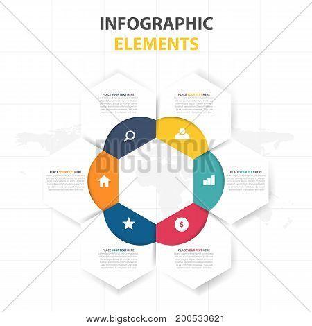 Business Infographic timeline process template Colorful Banner text box desgin for presentation presentation for workflow diagram design