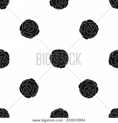 Beautiful planet pattern repeat seamless in black color for any design. Vector geometric illustration