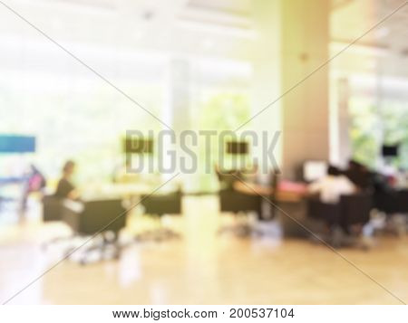 Blurred Image Of People Reading, Searching For Books And Preparing For The Final Examination With Ta