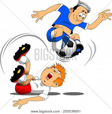 soccer design element white background vector -  illustration