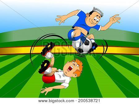 soccer design element green background, vector -  illustration