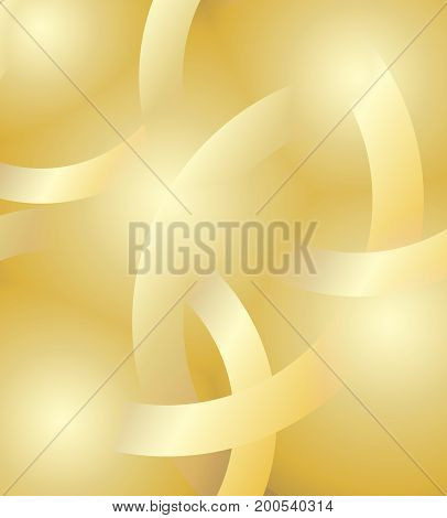 Abstract gold background. Shiny Golden background with round elements. Vector background