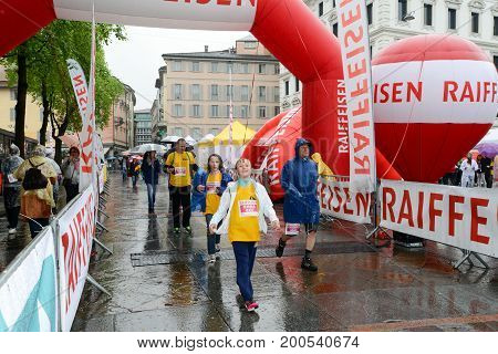 People During The Walking Contest Of Lugano On Switzerland
