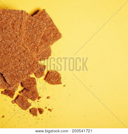 Fresh Healthy Rusks. The Theme Of Food. Flat Lay. Top View