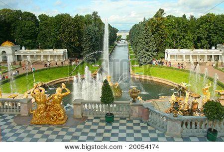 Peterhof, A Terrace Of The Grand Palace