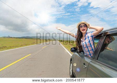 Elegant Woman Wearing Hat And Sunglasses