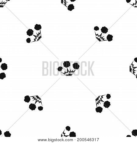 Explosion pattern repeat seamless in black color for any design. Vector geometric illustration