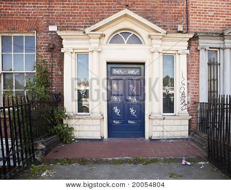 Vandalized Door In Dublin