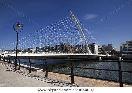 Beckett Bridge In Dublin