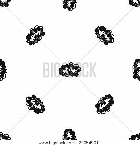 High powered explosion pattern repeat seamless in black color for any design. Vector geometric illustration
