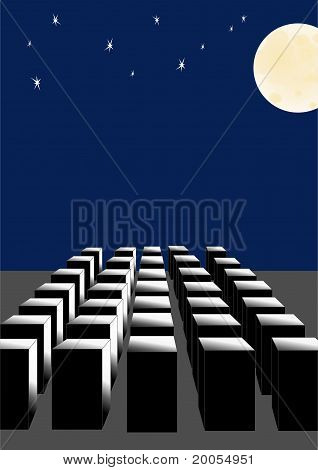 Abstraction, the full moon.