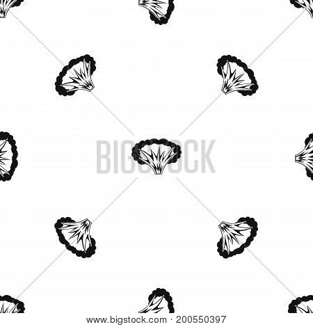 Atomical explosion pattern repeat seamless in black color for any design. Vector geometric illustration