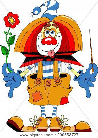 cheerful clown that you can decorate paints