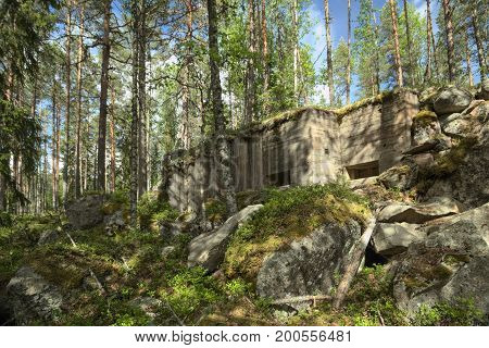 Abandoned World War Ii Bunker In Vaermland, Sweden. It Is Called Skans 176 Dypen