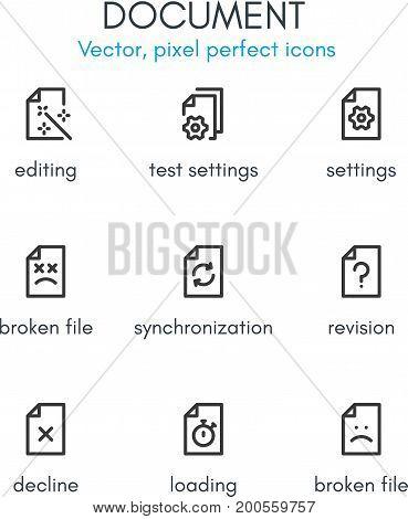 Document Theme, Line Icon Set