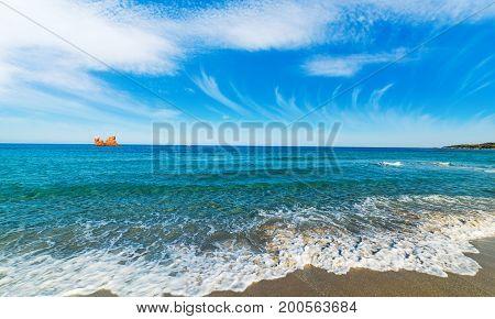 Clouds over Cea beach in Sardinia Italy