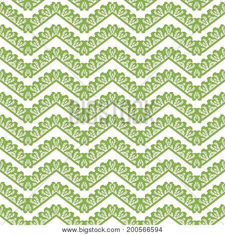 Greenery chevron seamless pattern background illustration.