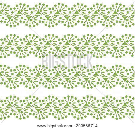 Greenery lace seamless pattern background illustration.