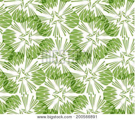 Greenery taraxacum seamless pattern background illustration.
