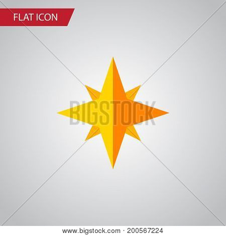 Asterisk Vector Element Can Be Used For Star, Asterisk, Sky Design Concept.  Isolated Starlet Flat Icon.