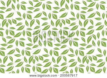 Greenery leaf seamless pattern background illustration.