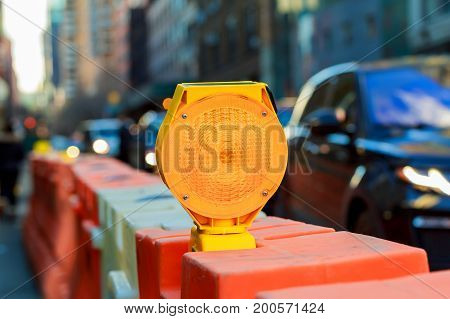 Yellow Warning Light