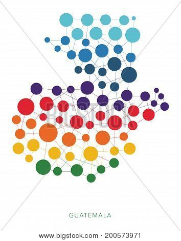 dotted texture Guatemala vector rainbow colorful background