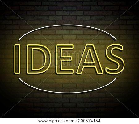 Neon Ideas Concept.