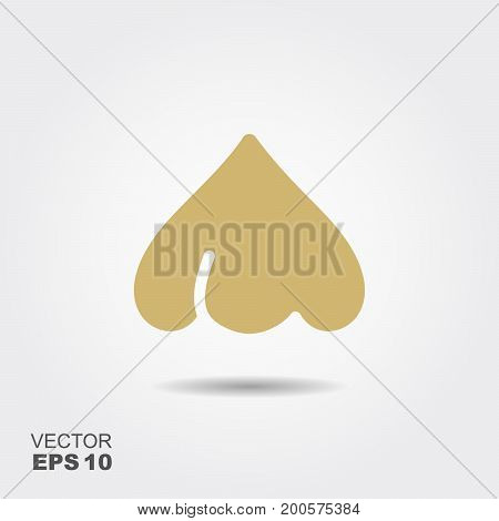 Garlic flat icon vector, colorful logo illustration with the shadow isolated on white