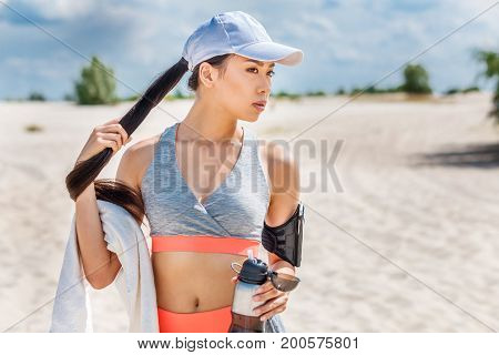 Beautiful Asian Sportswoman