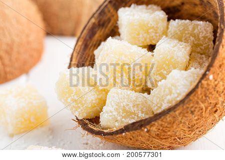 Coconut Turkish Delight - Rahat Lokum