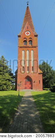 Church Of Guelzowshof, Mecklenburg-vorpommern, Germany, In Sunlight
