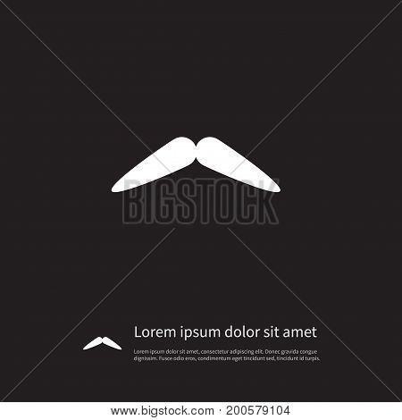 Moustache Vector Element Can Be Used For Moustache, Barber, Whiskers Design Concept.  Isolated Barber Icon.