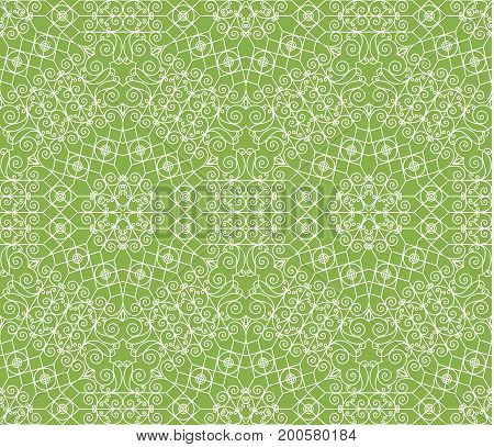 Greenery geometric ornament, seamless pattern background. decoration,