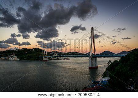 Dolsan Bridge During Sunset